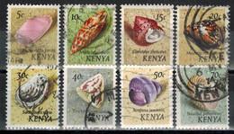 KENIA 1971 - MiNr: 36-50 Schnecken  Lot 8 Verschiedene  Used - Kenia (1963-...)