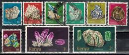 KENIA 1977 - MiNr: 96-110 Mineralien  Lot 9 Verschiedene  Used - Kenia (1963-...)
