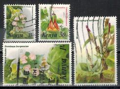KENIA 1983 - MiNr: 240-254  Blumen  Lot 4 Verschiedene  Used - Kenia (1963-...)