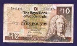 SCOTLAND  1988, Banknote Used VF, Royal Bank Of Scotland 10 POUND Km338 - [ 3] Escocia