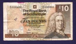 SCOTLAND  1987, Banknote Used VF, Royal Bank Of Scotland 10 POUND Km338 - [ 3] Escocia