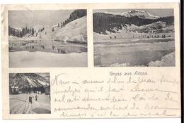 Gruss Aus AROSA: 3-Bild-AK Mit Seen Im Winter 1910 - GR Grisons