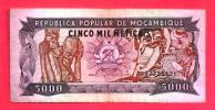 MOZAMBIQUE 1989  Banknote, Used Vf.. 5.000 Metaicas Nr. 132 - Mozambique
