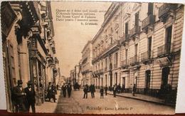 ACIREALE-CORSO UMBERTO I°-VIAGGIATA 1920-CARTOLINA ANIMATA. - Acireale