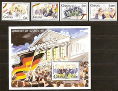 Ghana 1991 Yvertn° 1273-1276 Et Bloc 178 *** MNH Cote 142 FF Allemagne Deutschland - Ghana (1957-...)