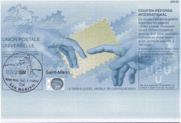 San Marino S. Marino. Coupon Réponse/reply Coupon Pechino II (CR18). - Interi Postali