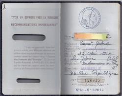 PASSEPORT FRANCAIS  N°126815   MARSEILLE 1961 - Unclassified