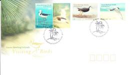 Cocos (Keeling) Islands 2008 FDC Scott #348-#350 Set Of 4 Visiting Birds - Cocos (Keeling) Islands