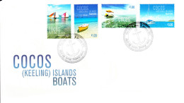 Cocos (Keeling) Islands 2011 FDC Set Of 4 Boats Of The Islands - Cocos (Keeling) Islands