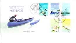Cocos (Keeling) Islands 2013 FDC Set Of 5 Celebrating 50 Years Of Stamps - Cocos (Keeling) Islands
