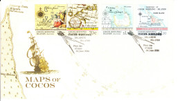Cocos (Keeling) Islands 2014 FDC Set Of 4 Maps Of Cocos - Cocos (Keeling) Islands