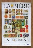 """RARE Affiche """"La Bière En Lorraine"""" (Brasseries) - Affiches"""