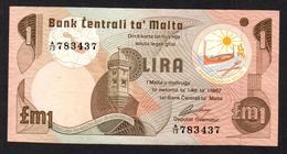 MALTA : 1  Liri - P34 - 1973 - XF - Sn: 783437 - Malta