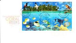 Cocos (Keeling) Islands 2006 FDC Scott #344a-#344t Set Of 20 Life On The Coral Reefs - Cocos (Keeling) Islands