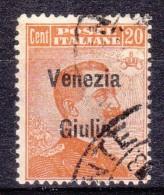 1918 VENEZIA GIULIA 20c. Usato - 8. WW I Occupation