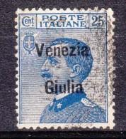 1918 VENEZIA GIULIA 25c. Usato - Occupation 1ère Guerre Mondiale
