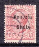 1918 VENEZIA GIULIA 10c. Usato - 8. WW I Occupation
