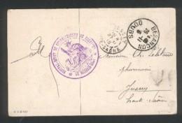 """Besançon - Cachet  """"Hôpital Dépot De Convalescents De Besançon - Le Mèdecin Chef - En 1915 - Marcophilie (Lettres)"""