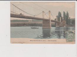 CPA - SOISY SOUS ETIOLLES - Pont Suspendu - Francia