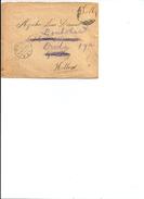 Brief Van Verdonck , Belgisch Leger Te Velde, Naar Desmedt Te Wassenaar En Doorgezonden Naar Breda , 1916. - Guerre 14-18