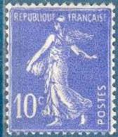 France - 1932/37 - Type Semeuse Fond Plein 10c Outremer Y&T N°279 ** Neuf Luxe - France