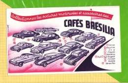 BUVARD & Blotting Paper : Cafés BRESILIA  Collectionnez Les Voitures Dauphine Traction  Vedette - Café & Thé