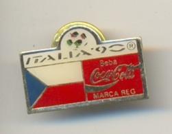 13-col5. Pin Coca Cola. Italia-90. Bandera Checoslovaquia - Coca-Cola