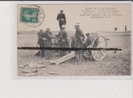 CPA - SCENES DE LA VIE MILITAIRE - En Manoeuvres - Artillerie De Campagne Pièce De 75 M En Action De Combat Attend Pour - Manoeuvres
