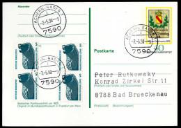 95026) BRD - TaST 7590 ACHERN, BADEN 1 Vom 7.5.90 Auf Postkarte PSo 5 - PLZ=Datum - Poststempel - Freistempel