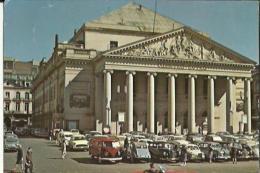 Bruxelles  Theatre Royal De La Monnaie _Place Tres Tres Animée Et Nombreuses Voitures - Monuments, édifices