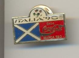 13-col7. Pin Coca Cola. Italia-90. Bandera Sin Identificar - Coca-Cola
