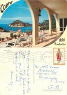 Hotel Paleokastritsa, Corfu, Greece Postcard Posted 1973 Stamp - Grecia
