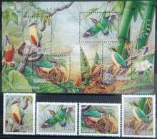 Taiwan, 2006, Mi. 3174-77, 3178-81 (bl. 132), Sc. 3693-97, SG 3163-67, Birds, MNH - 1945-... Repubblica Di Cina