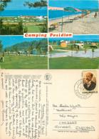 Camping Posidion,  Cassandra, Chalkidiki, Greece Postcard Posted 1982 Stamp - Grecia