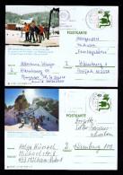 Sky Winter Sports BAYRISCHZELL MARIENHEIDE (2) Postal Stationery 1975+76 Gc2674