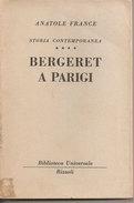 Bergeret A Parigi Anatole France Rizzoli - Libri, Riviste, Fumetti