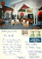 Salon Arabe,  Hotel Rif, Tanger, Morocco Postcard Posted 1966 Stamp - Tanger