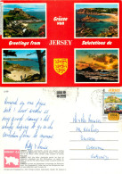 Multiview, Jersey Postcard Posted 1997 Stamp - Jersey