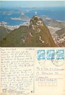 Cristo Redentor, Rio De Janeiro, Brazil Postcard Posted 1982 Stamp - Rio De Janeiro
