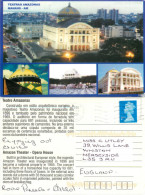 Teatro Amazonas, Manaus, Brazil Postcard Posted 2011 Stamp - Manaus