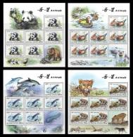 North Korea 2010 Mih. 5547/50 Fauna. Panda. Ducks. Dolphins. Leopards (4 M/S) MNH ** - Korea (Nord-)