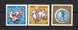 Yemen Arab Republic 1966 Football Soccer World Cup Set Of 3 Postage Dues MNH - 1966 – England