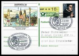 95056) BRD - SoST 8042 OBERSCHLEISSHEIM Vom 05.10.1991 Auf Postkarte PSo 6 - 100 Jahre Menschenflug - BRD