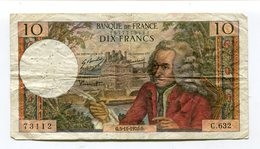 Billet De 10 F  VOLTAIRE  1970   C 632 - 10 F 1963-1973 ''Voltaire''