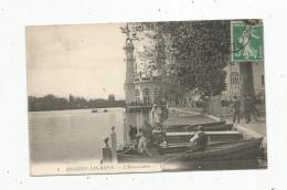 Cp, 95 , ENGHIEN LES BAINS , L'embarcadère , Barques , Belle Animation , Voyagée - Enghien Les Bains