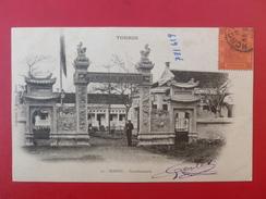 TONKIN HANOI GENDARMERIE VOIR TIMBRES Devant CPA Souple Voir Verso - Viêt-Nam