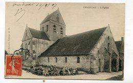 CPA  02  :  CHASSEMY  église Animée Avec Enfants   1907      A    VOIR  !!! - France