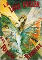 PUBLICITE  D 11 DANSE  LA LOIE FULLER FOLIES BERGERES DANSEUSE CABARET PAPILLON  EDITIONS NUGERON - Publicité