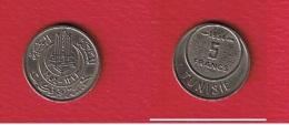 Tunisie  -    5 Francs 1954  --  Km # 277   --  état  SUP - Tunisie