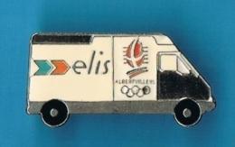 1 PIN'S  //  ** RENAULT MASTER ** ELIS ** JEUX OLYMPIQUES ALBERTVILLE ** - Renault